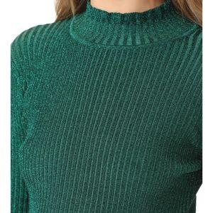 NWT Milly Green Metallic Stardust Sweater- L